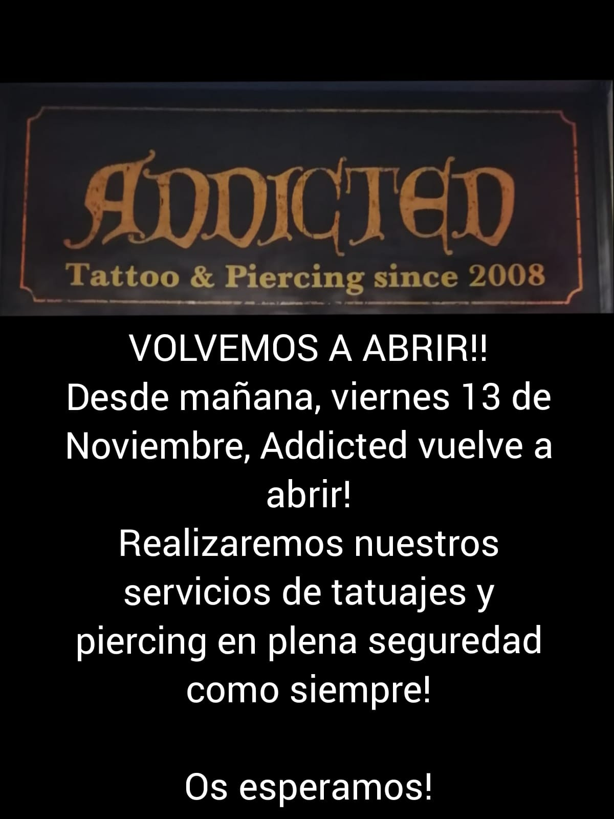 Addicted Tattoo reopens its doors!